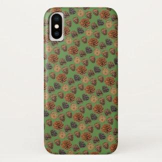 Funda Para iPhone X Caso del iPhone X del cono del pino