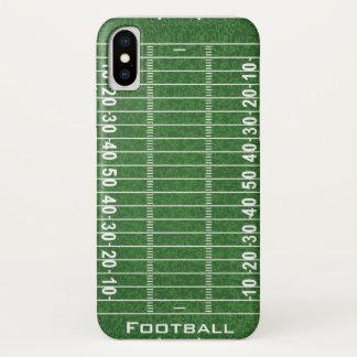 Funda Para iPhone X Caso del iPhone X del diseño del campo de fútbol