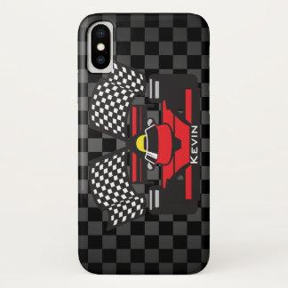 Funda Para iPhone X Caso del iPhone X del diseño del coche de carreras