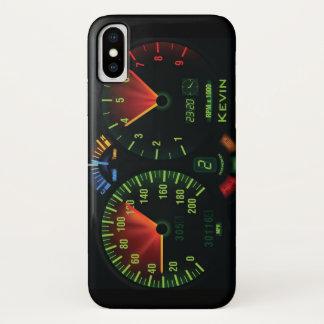 Funda Para iPhone X Caso del iPhone X del diseño del odómetro del
