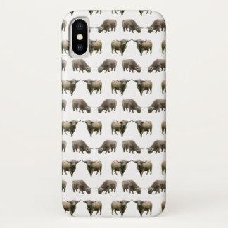 Funda Para iPhone X Caso del iPhone X del frenesí de la vaca de la