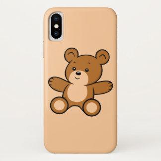 Funda Para iPhone X Caso del iPhone X del oso de peluche del dibujo
