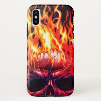 Funda Para iPhone X caso esquelético principal del iphone del fuego