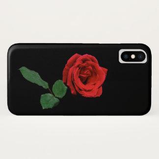 Funda Para iPhone X Caso floral del iPhone X de la sola flor roja de