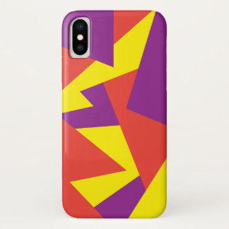 Funda Para iPhone X Caso geométrico juguetón del iPhone X