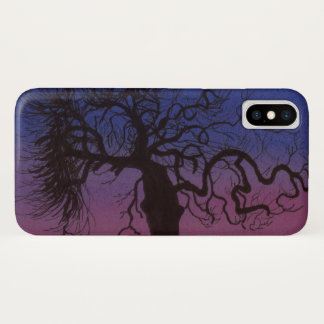 Funda Para iPhone X Caso Gnarly del iPhone del árbol