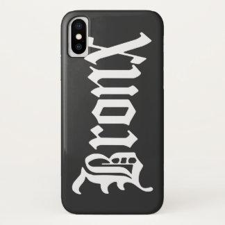 Funda Para iPhone X Caso gótico del iPhone del texto del vintage de