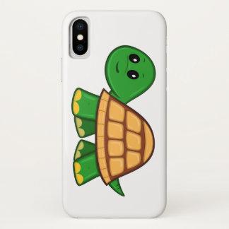 Funda Para iPhone X Caso lindo del iPhone X de la tortuga del dibujo