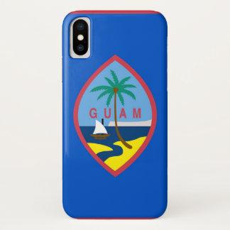 Funda Para iPhone X Caso patriótico de Iphone X con la bandera de Guam