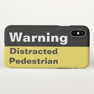 Funda Para iPhone X Caso peatonal distraído advertencia divertida del