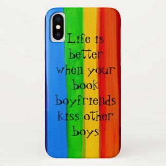 Funda Para iPhone X Caso romántico del iPhone X de los amantes del