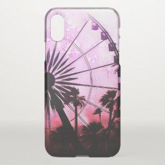 Funda Para iPhone X Caso (rosado) del iPhone X Clearly™ de la noria