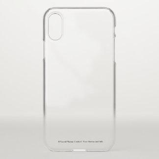 Funda Para iPhone X Caso transparente del iPhone con la información de