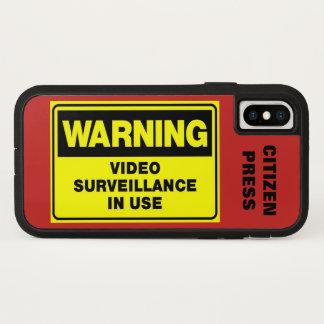 Funda Para iPhone X Caso video del iPhone X de la vigilancia