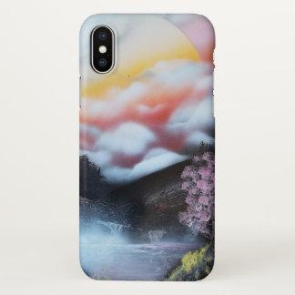 Funda Para iPhone X Cerezo del arte de la pintura de aerosol