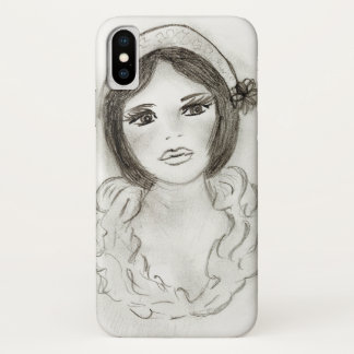 Funda Para iPhone X Chica rizado de la aleta