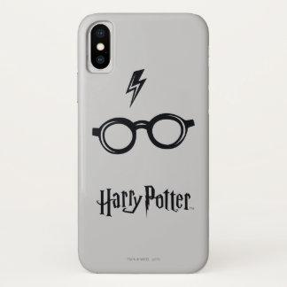 Funda Para iPhone X Cicatriz y vidrios del relámpago del encanto el |