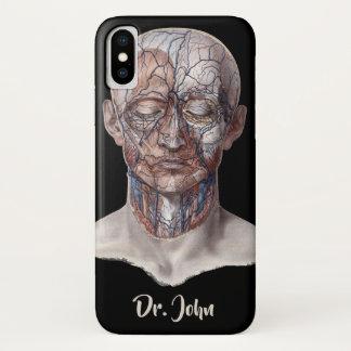 Funda Para iPhone X Ciencia humana de la anatomía del vintage, nariz