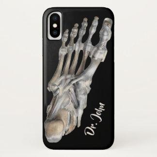 Funda Para iPhone X Ciencia humana de la anatomía del vintage, pies
