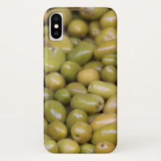 Funda Para iPhone X Ciérrese para arriba de aceitunas verdes