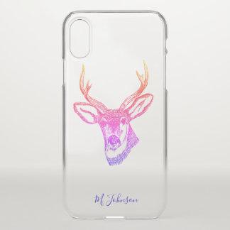 Funda Para iPhone X Ciervos personalizados del arco iris