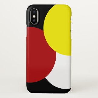 Funda Para iPhone X Colores primarios geométricos modernos