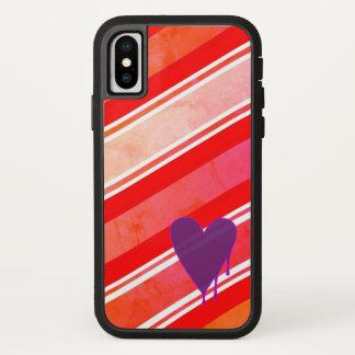 Funda Para iPhone X Corazón de fusión Xtreme duro púrpura