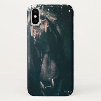 Funda Para iPhone X ¡Corazón de un león! (Mirada sucia)