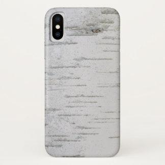 Funda Para iPhone X corteza de abedul primitiva del país occidental