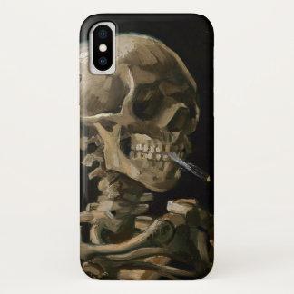 Funda Para iPhone X Cráneo con el arte ardiente de Vincent van Gogh