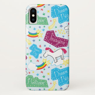 Funda Para iPhone X Crea, soñe grande, imagínese la caja del teléfono