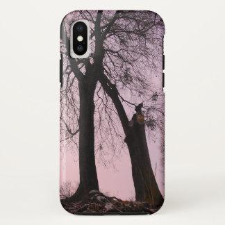 Funda Para iPhone X Crepúsculo rosado y púrpura