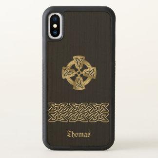 Funda Para iPhone X Cruz céltica y caja personalizada cadena del