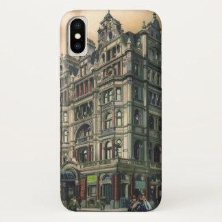 Funda Para iPhone X Cuadrado de Leicester del hotel del Queens de la