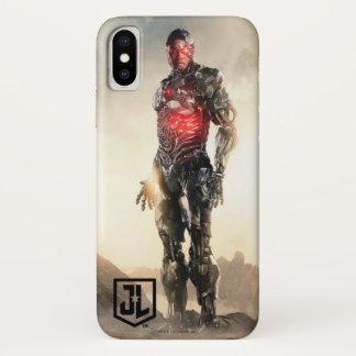 Funda Para iPhone X Cyborg de la liga de justicia el | en campo de