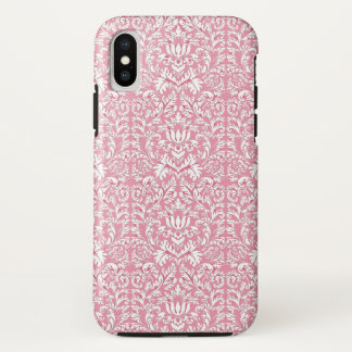 Funda Para iPhone X Damasco de Kawaii de los rosas bebés