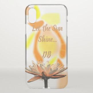 Funda Para iPhone X Deje la sol florecer personalizado
