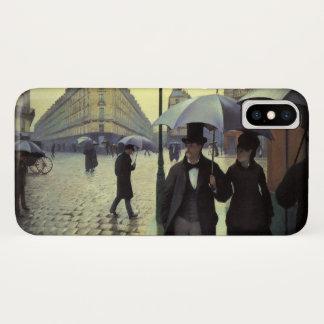 Funda Para iPhone X Día lluvioso de la calle de París de Gustave