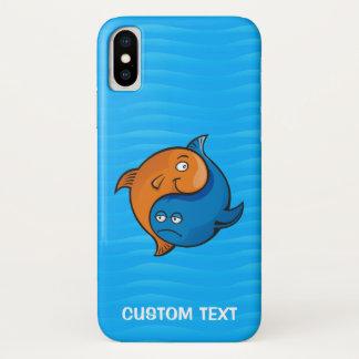 Funda Para iPhone X Dibujo animado de los pescados de Yin Yang