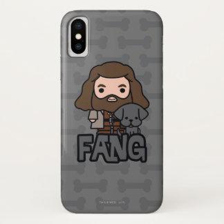Funda Para iPhone X Dibujo animado Hagrid y arte del carácter del