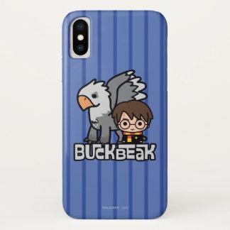 Funda Para iPhone X Dibujo animado Harry Potter y Buckbeak