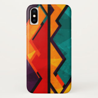 Funda Para iPhone X Diseño coloreado multi africano de la impresión