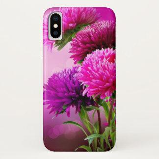 Funda Para iPhone X Diseño del arte de las flores del otoño del aster