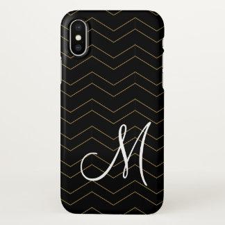 Funda Para iPhone X Diseño femenino del monograma con clase