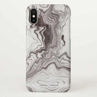 Funda Para iPhone X Efecto de mármol gris natural el | de Brown