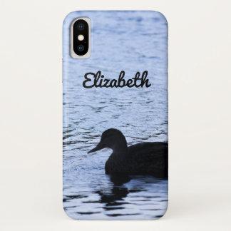 Funda Para iPhone X El agua solitaria del lago wildlife del pato
