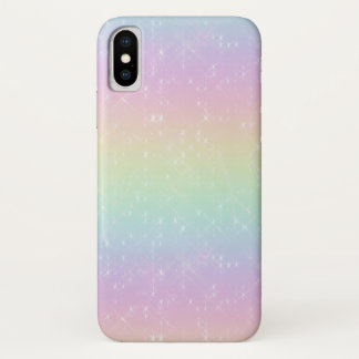 Funda Para iPhone X El arco iris chispea caja del teléfono móvil