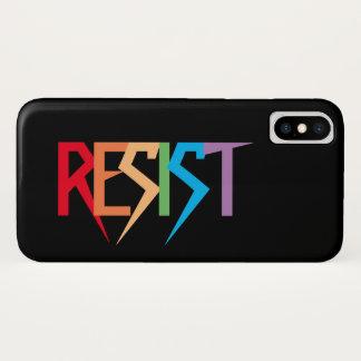 Funda Para iPhone X El arco iris resiste el caso del iPhone X