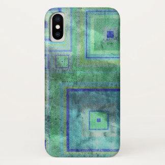 Funda Para iPhone X El blanco lavó la caja texturizada sucia del