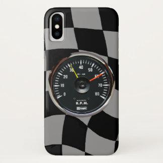 Funda Para iPhone X El competir con auto análogo del tacómetro del
